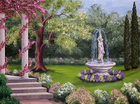 Grecian Garden by Becky Price Step By Step Painting