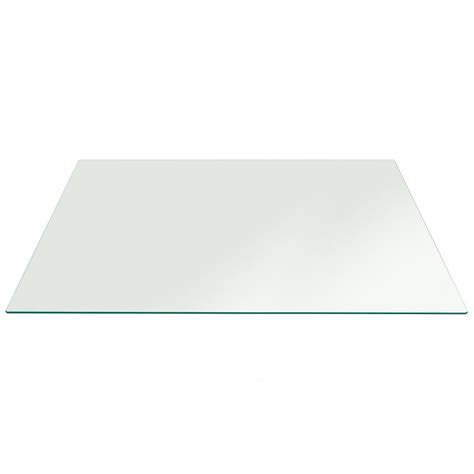 rectangle glass table top fab glass and mirror rectangle clear tempered glass table