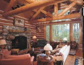 cabin living room decor a woodsy retreat cabin decor idea taking logs to new heights howstuffworks