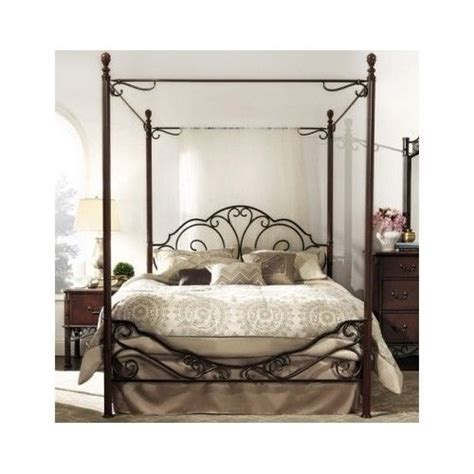 poster headboard antique metal queen poster bed frame wrought iron canopy