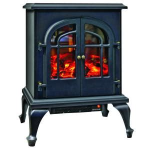 electric fireplace heater home depot comfort zone 1 500 watt 2 door stove style fireplace