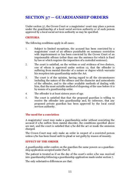 mental health act section 35 mental health act 1983 mentally disordered offenders