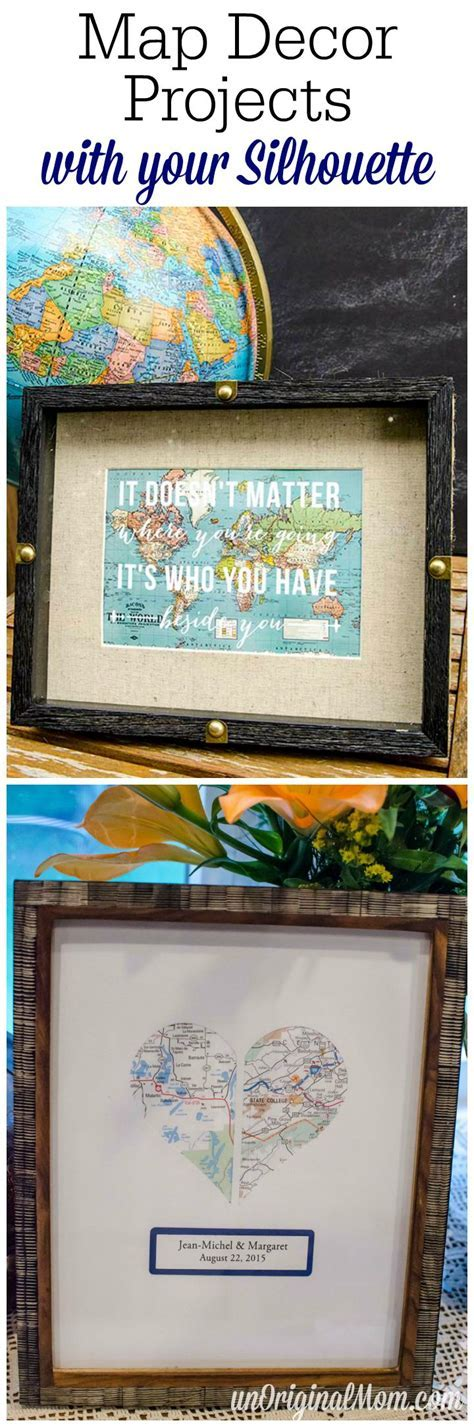 Map Themed Decor with your Silhouette   unOriginal Mom