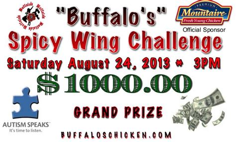 spicy wing challenge 2013 at buffalo s chicken shack