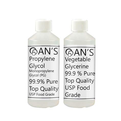 Paket Vg Pg Pharmaceutical Grade E Liquid Diy vegetable glycerine propylene glycol vg pg mixing bases diy 99 9 usp ep ebay