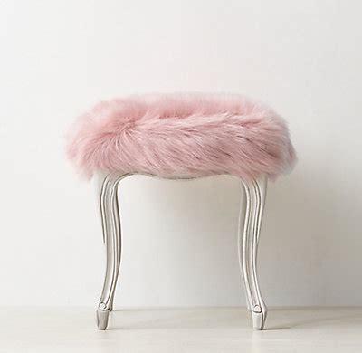 sophie kashmir faux fur stool