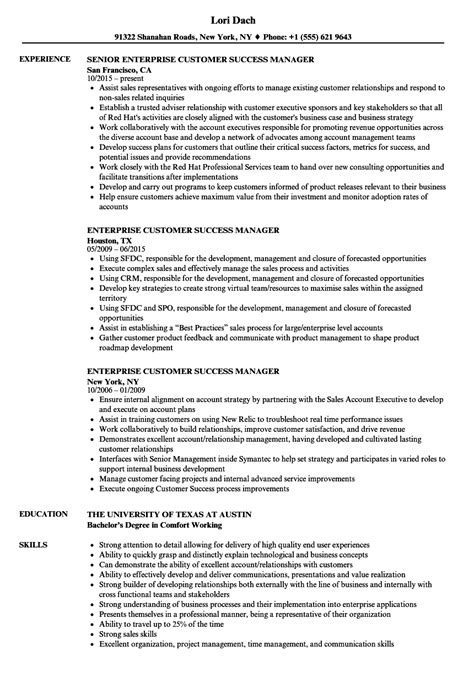 Customer Success Manager Resume by Enterprise Customer Success Manager Resume Sles
