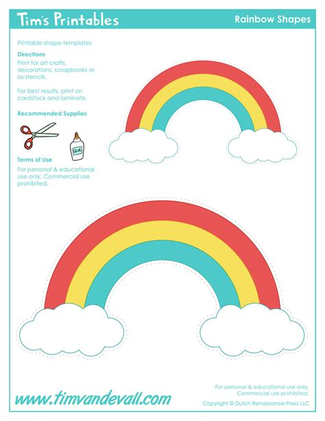 Rainbow Templates Tim Van De Vall Printable Rainbow Template
