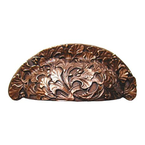 antique copper cabinet pulls notting hill floral 3 inch center to center antique copper