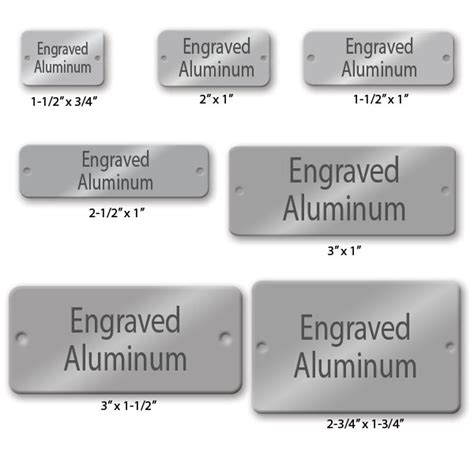 engraved tags engraved rectangle aluminum tags naptags