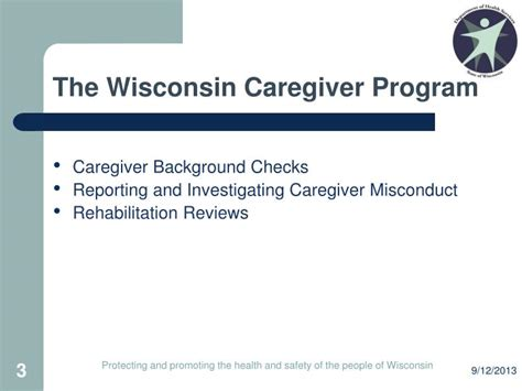 Wisconsin Caregiver Background Check Ppt Caregiver Misconduct Investigation And Reporting Requirements Powerpoint