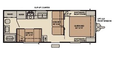 Mallard Travel Trailer Floor Plans | 2008 mallard by fleetwood m 23fq sport specs and standard