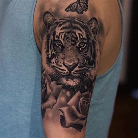 tiger and roses tattoo designs 100 best tiger tattoos designs ideas with meanings