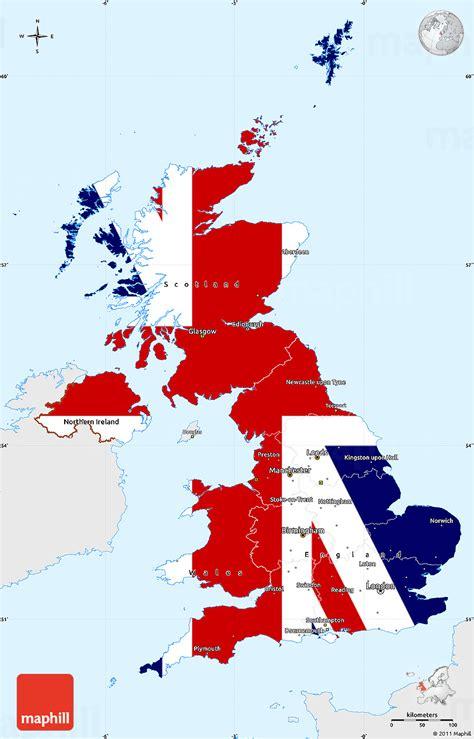 Kintakun Singel United Kingdom flag simple map of united kingdom single color outside flag aligned to the middle