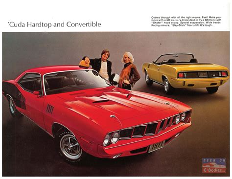 leaflet design plymouth 1971 plymouth barracuda brochure canadian version e bodies
