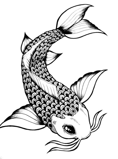 koi fish tattoo outline designs koi fish drawing outline search fishy