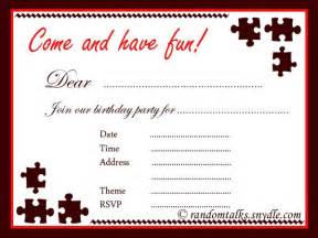 printable birthday invitation for