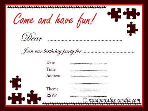 printable birthday invitation cards for adults printable birthday party invitation for adult
