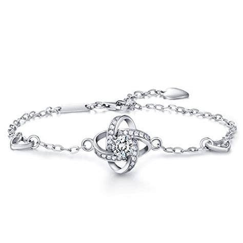Preorder Lucky Four Leaf Clover Bracelet Charm Micro Pave 925 sterling silver bracelet wm four leaf clover bracelet wish luck with