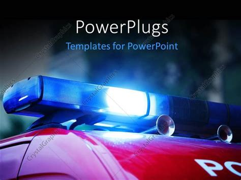 enforcement powerpoint templates powerpoint template blue siren on