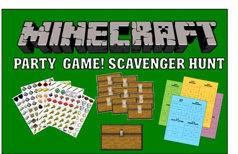 printable minecraft quiz minecraft party game printable scavenger hunt