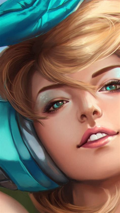 wallpaper blonde  girl headphones blue eyes