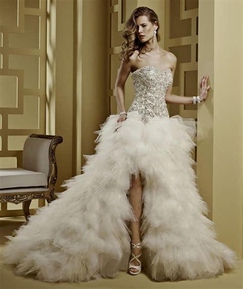 High Designer Wedding Dresses by High Low Corset Wedding Dresses Naf Dresses