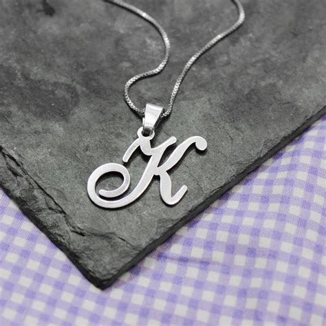 Letter Necklace Not On The High Personalised Alphabet Necklace By Lou Of