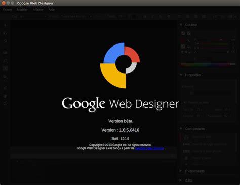 html design linux google web designer dispo sous linux