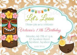 hawaiian luau birthday invitation by lovelifeinvites on etsy