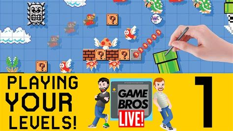 fan made mario games super mario maker fan made levels game bros live youtube