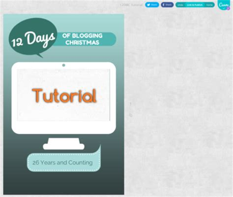 canva hyperlink 12 days of blogging christmas day 6 tutorial normal ness