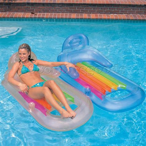 inflatable swimming pool lounge air bed mattress float