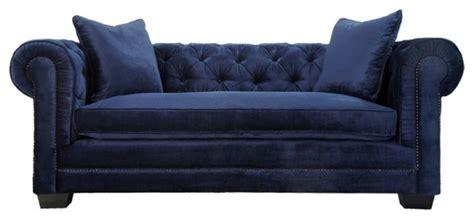 norwalk velvet tufted chesterfield sofa navy