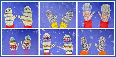 mitten pattern art project winter art projects winter art lessons pinterest