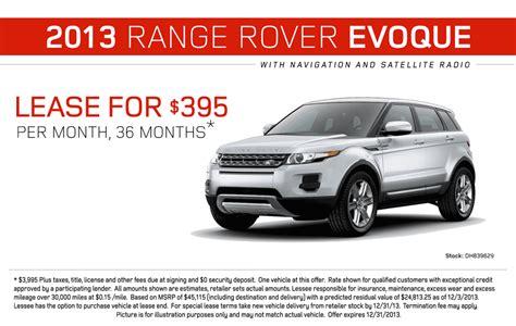 range rover lease range rover evoque range rover lease special land