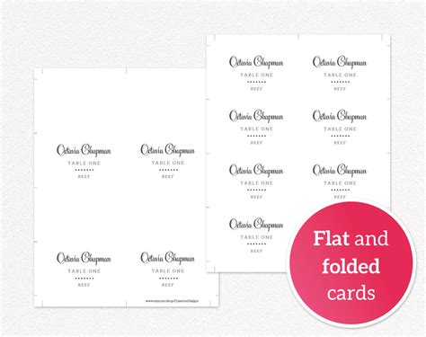 Diy Seating Cards Template by Wedding Place Cards With Meal Icons 183 Wedding Templates