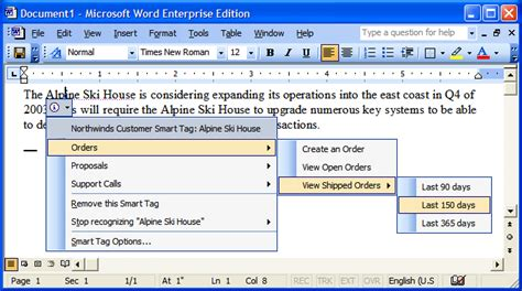 office menu what s new with smart tags in office 2003