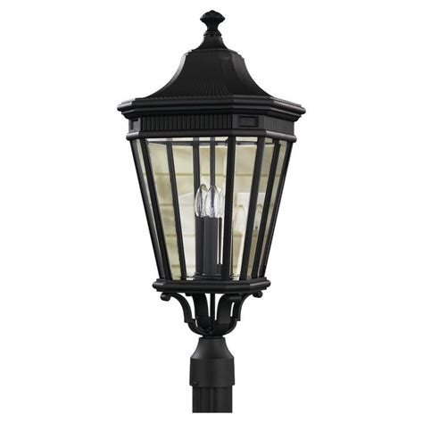 black outdoor post lights hton bay 3 black outdoor post light hb7017p 05