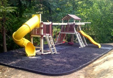 Rubber Mulch For Playground Calculator by Rubber Curbs Rubber Mulch