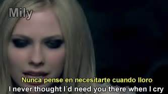 Avril lavigne when you re gone subtitulado espa 241 ol ingles youtube