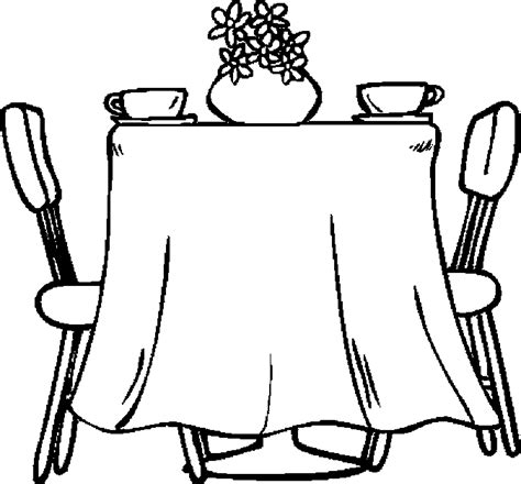 Table Dining Room Coloring Page Color Book Coloring In Books