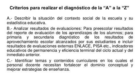 ejemplo de diagnostico de ruta de mejora preescolar criterios para el diagnostico de la ruta de mejora 2015