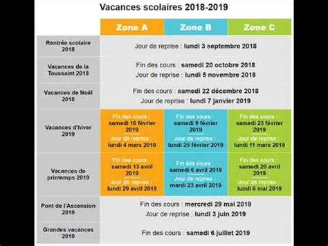 Vacances Scolaires 2019 Vacances Scolaires 2018 2019
