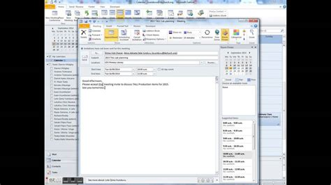 Calendar Invite Outlook Set Up And Send A Meeting Invite On Outlook 2010