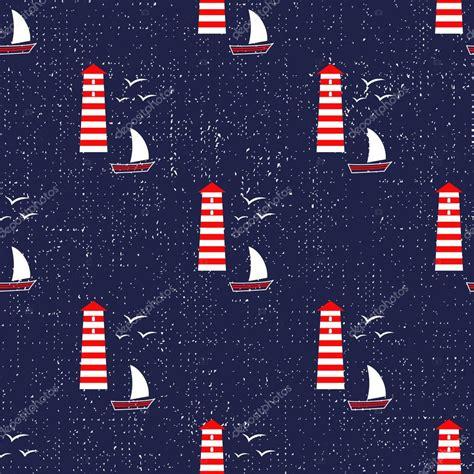 navy pattern vector navy vector seamless sea pattern sailboat lighthouse