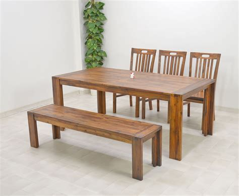 bench style dining sets modern bench style dining table set ideas homesfeed