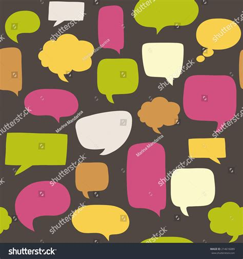 speech pattern en français seamless pattern with speech bubbles stock vector