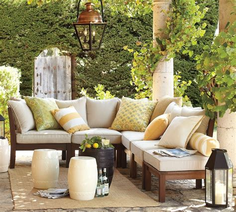 pottery barn furniture how to add warmth and fight mosquitos in the backyard
