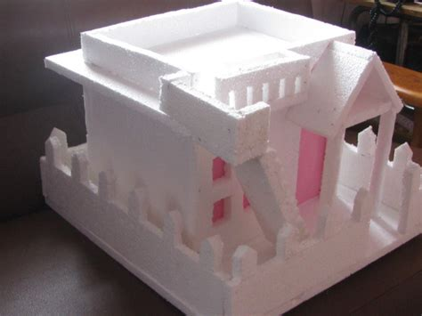 how to make thermocol bungalow house model school project from the side craft works school projects nature study